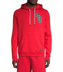 wesc men's mike chance dice-print hoodie - red - size xl
