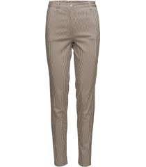 piara trousers byxa med raka ben beige masai