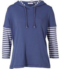 maglia doppio strato con maniche a 3/4 (blu) - john baner jeanswear