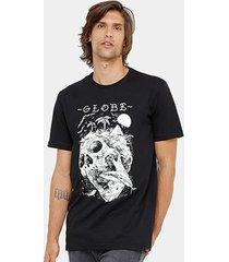 camiseta globe básica skull island masculina