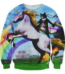 3d unicorn cat hoodies