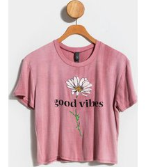 good vibes sunflower tee - rose