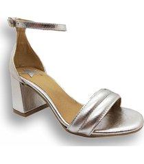 sandalia plateada abryl calzados roma
