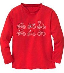 shirt met lange mouw fiets, rood 98/104