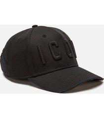 dsquared2 men's icon cap - black/black