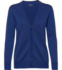 light cotton vneck cardigan gebreide trui cardigan blauw gant