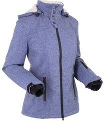 giacca tecnica outdoor con pile effetto peluche (blu) - bpc bonprix collection