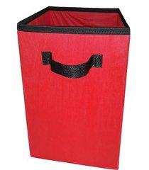 caixa organizadora de 28x30x28 vermelho com alã§a - vermelho - dafiti