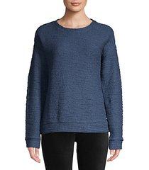 boucle-knit sweatshirt