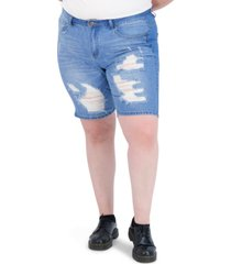 gogo jeans trendy plus size high-rise dream jean shorts