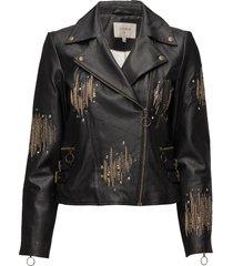 adeline jacket läderjacka skinnjacka svart cream
