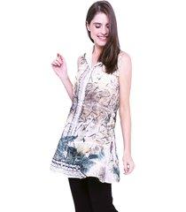 vestido chemise evasê 101 resort wear estampado tiedye animal print