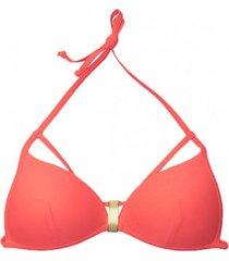 bikini estilo sostén con broche naranja samia