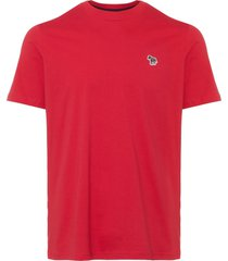 ps by paul smith red organic-cotton zebra logo t-shirt pupd-011r-zebra-25