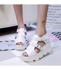 sandalias de verano zapatos mujer boca de pescado zapatos de tacón alto