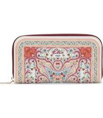 etro paisley print wallet - white