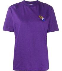 off-white leaves arrows print t-shirt - purple