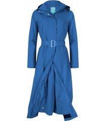 happyrainydays regenjas long coat jersey lining balou blue