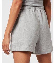 ganni women's isoli shorts - paloma melange - l