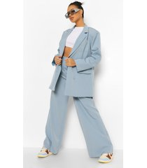 baggy wide leg broek, dusty blue