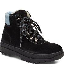 hiker boot 6724 shoes boots ankle boots ankle boot - flat svart samsøe samsøe