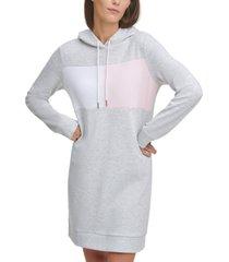 tommy hilfiger logo sweatshirt hoodie dress