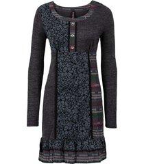 abito in maglia con inserti colorati (grigio) - rainbow