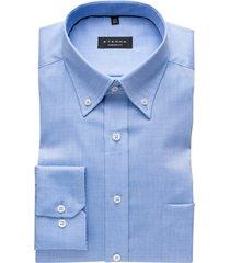 eterna strijkvrij overhemd lichtblauw comfort fit