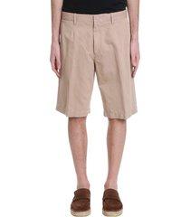 ermenegildo zegna shorts in beige linen