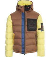 peuterey mix padded jacket w/patch