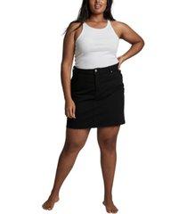 cotton on women's trendy plus size denim mini skirt
