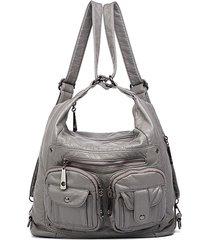 borsa multifunzionale in ecopelle di design borsa multi-tasca a spalla borsa zaino da donna