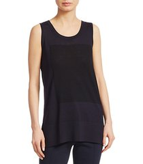contrast square knit tank top