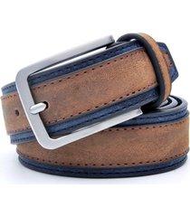 cinturon clasico lujo hombre casual cuero 125cm p038 café oscuro