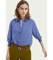 scotch & soda loose fit gestreepte blouse