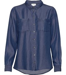 15 the denim shirt långärmad skjorta blå denim hunter