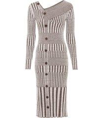 abito in maglia con bottoni (grigio) - bodyflirt boutique