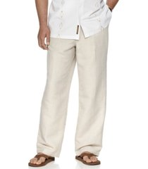 "cubavera big and tall drawstring linen-blend 30"" length pants"