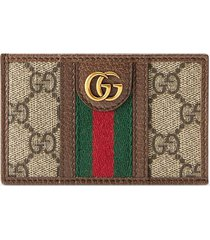 gucci ophidia gg card case - brown