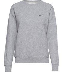plain crew neck sws sweat-shirt trui grijs lee jeans
