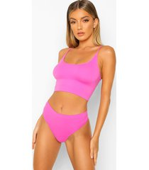 know your lemons seamfree bralette, pink