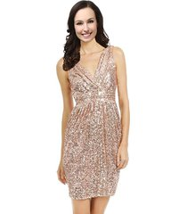 lemai v neck sequined short corset prom cocktail bridesmaid dresses rose gold...