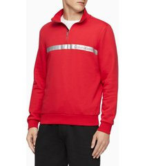calvin klein men's quarter-zip sweatshirt