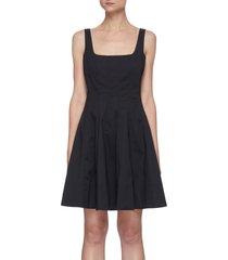 'mini wells' square neck mini dress