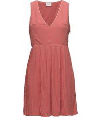 vililla s/l dress knälång klänning rosa vila