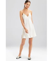 ava chemise pajamas, women's, white, 100% silk, size m, josie natori