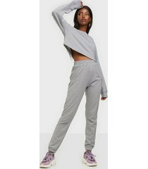 missguided crop sweat & jogger jumpsuits