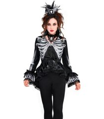 buyseasons women's skeleton jacket adult costume
