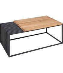 stolik kawowy architect drewno dębowe metal 100cm
