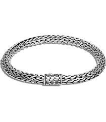 john hardy tiga chain 6.4mm bracelet, size large in silver at nordstrom